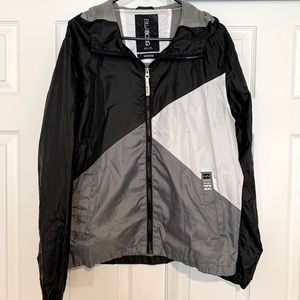 Mens Billabong Gray & Black Windbreaker Medium
